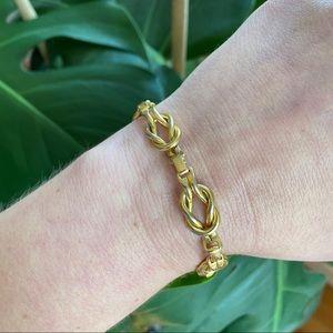 Vintage Jewelry - 🎉5/20 SALE🎉vintage gold love knot chain bracelet